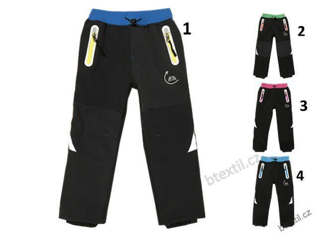 5ddf40b36bf Dětské softshellové oteplené kalhoty Kugo