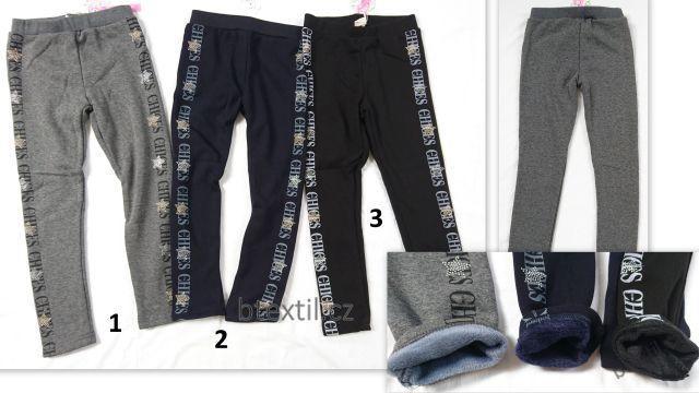 Dívčí oteplené legíny kalhoty 2e9d0f6eac