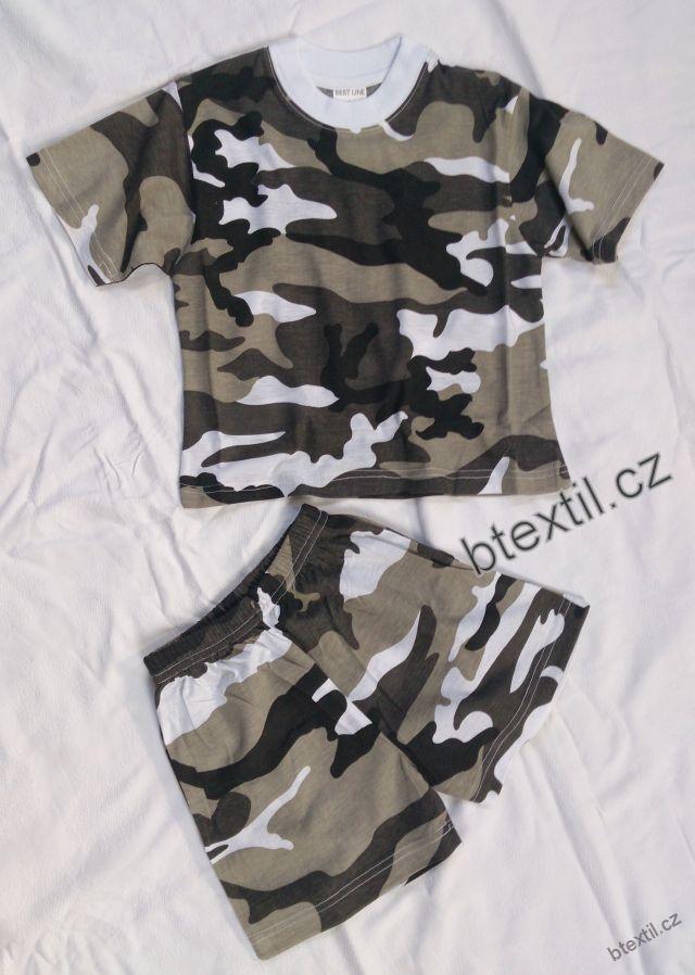 Dětské maskáčové tričko + kraťasy  c63abf8d81