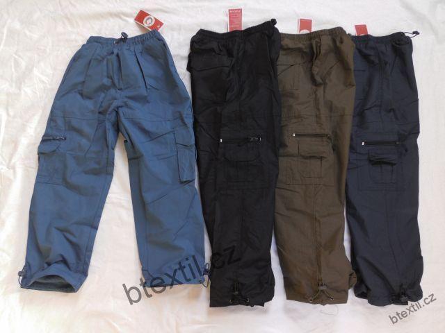 Chlapecké oteplené kalhoty 128 tmavě modré  d2cb9951514